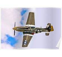 "P-51D Mustang 45-15118 G-MSTG ""Janie"" banking Poster"