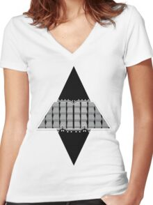 The M Machine Virtual M Vector Women's Fitted V-Neck T-Shirt
