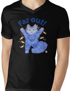 Blue Cat 'Far Out' Mens V-Neck T-Shirt
