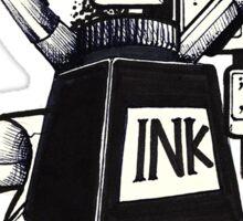 Love ink. Making art! Sticker