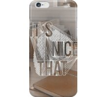 """""""It's Nice That"""" Illustrated  iPhone Case/Skin"""