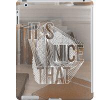 """It's Nice That"" Illustrated  iPad Case/Skin"