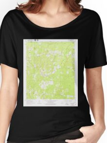 USGS TOPO Map Arkansas AR Mt Holly 259176 1962 24000 Women's Relaxed Fit T-Shirt