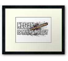 NEGAN IS MY HOMEBOY / bloody barbed wire baseball bat Framed Print