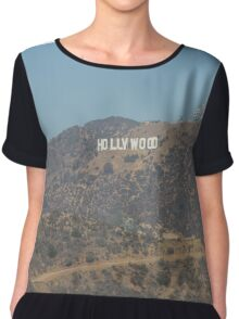 Hollywood Sign Chiffon Top