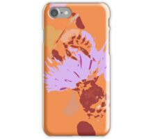 Bee and thistle abstract iPhone Case/Skin