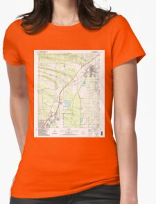 USGS TOPO Map Arkansas AR Cabot 258099 1987 24000 Womens Fitted T-Shirt