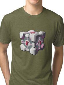 Companion cube has a heart Tri-blend T-Shirt