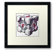 Companion cube has a heart Framed Print