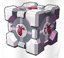 Companion cube has a heart Poster