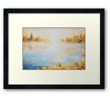 Morning Lake Framed Print