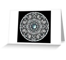 Steel Blue Mandala Greeting Card