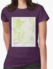 USGS TOPO Map Arkansas AR Judsonia 258848 1965 24000 Womens Fitted T-Shirt