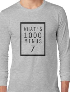 What is 1000 Minus Design Long Sleeve T-Shirt