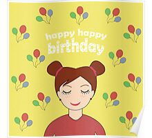 Happy Happy Birthday Poster