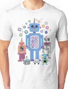 Retro Robots for Sci-fi Nerds and Geeks Unisex T-Shirt