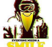 Snowboarders Needs A Smile Too by papabuju