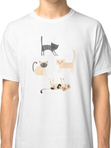 Cute Kittens Collection // Hand Drawn Illustrations Classic T-Shirt