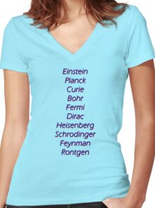 Physicists top 10 Women's Fitted V-Neck T-Shirt