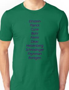 Physicists top 10 Unisex T-Shirt