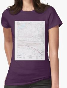 USGS TOPO Map Arkansas AR Menifee 20110804 TM Womens Fitted T-Shirt