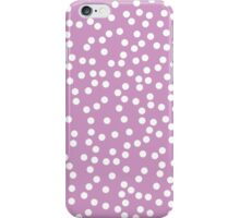 Cute Lavender and White Polka Dots iPhone Case/Skin