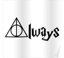 Always Deathly Hallows Harry Potter RC Poster