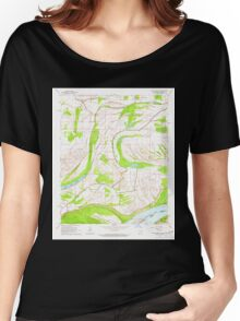 USGS TOPO Map Arkansas AR Friars Point NW 258525 1964 24000 Women's Relaxed Fit T-Shirt