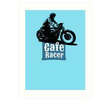 Cafe Racer - racing vintage motorcycle Art Print