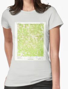 USGS TOPO Map Arkansas AR Omaha 259312 1967 24000 Womens Fitted T-Shirt