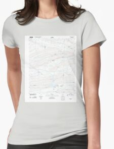 USGS TOPO Map Arkansas AR Barber 20110727 TM Womens Fitted T-Shirt