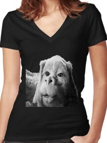 Falkor The Luck Dragon From The Neverending Story Design Women's Fitted V-Neck T-Shirt