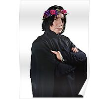 snape with flower crown Poster
