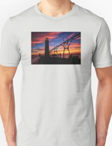 Sunset From the Pier - Grand Haven, Michigan Unisex T-Shirt