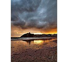 Criccieth Castle Sunset 2 Photographic Print