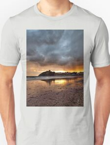 Criccieth Castle Sunset 2 Unisex T-Shirt