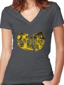 Electric Skull Music Women's Fitted V-Neck T-Shirt