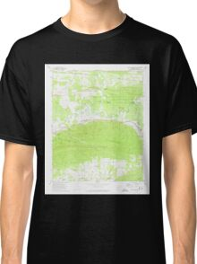 USGS TOPO Map Arkansas AR Danville Mountain 258294 1972 24000 Classic T-Shirt