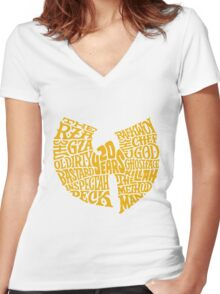 Text Music Anniversary Women's Fitted V-Neck T-Shirt
