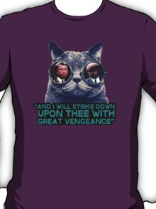 Galaxy cat glasses - pulp fiction quote jules T-Shirt
