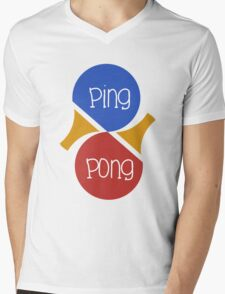 Ping Pong Mens V-Neck T-Shirt