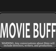Movie Buff Sticker