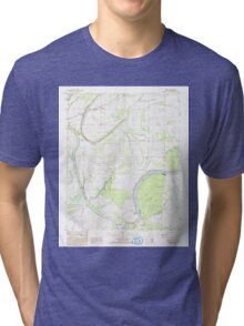USGS TOPO Map Arkansas AR Brickeys 258060 1984 24000 Tri-blend T-Shirt