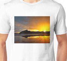 Criccieth Castle Sunset Unisex T-Shirt