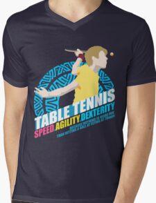 Speed,Agility,Dexterity - Table Tennis Mens V-Neck T-Shirt