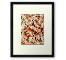 Lobsters For Sale In Fish Market Framed Print