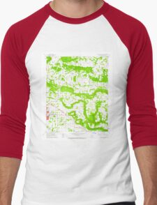 USGS TOPO Map Arkansas AR Russellville East 259543 1962 24000 Men's Baseball ¾ T-Shirt