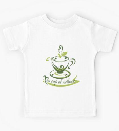 Tea Cup Of Wellness Kids Tee