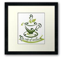 Tea Cup Of Wellness Framed Print
