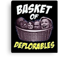 Basket Of Deplorables Canvas Print